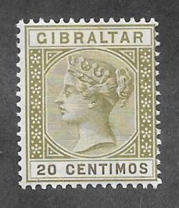 GIBRALTAR Scott #31 Mint 20c Queen Victoria 2015 CV $15.00