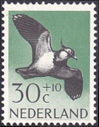 Netherlands # B357 mnh ~ 30¢ + 10¢ Bird - Lapwing
