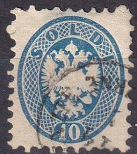 Austria  Lombardy-Venetia #23  F-VF  Used CV $22.50   (Z7966)