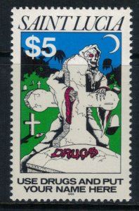St. Lucia #1001* NH  CV $9.00  Drug issue