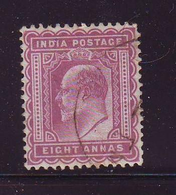 India Sc 68 1902 8 a red vio E VII stamp used