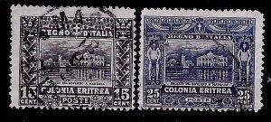 Eritrea # 47-48, Used. CV $ 47.50