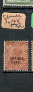 INDIA CHAMBA (PP0305B)  KGV 3A  SG 48   MOG