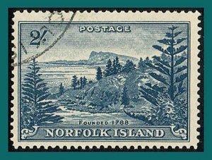 Norfolk Island 1959 Ball Bay, 2s used #24,SG12a