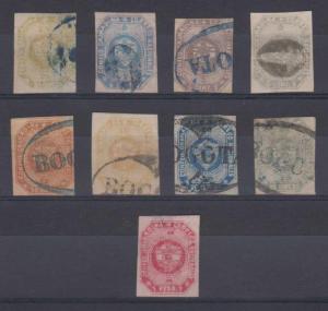 COLOMBIA 1859 GRENADINE CONFEDERATION Sc 1-7, 3e, 4a & 5a FULL SET USED €945+