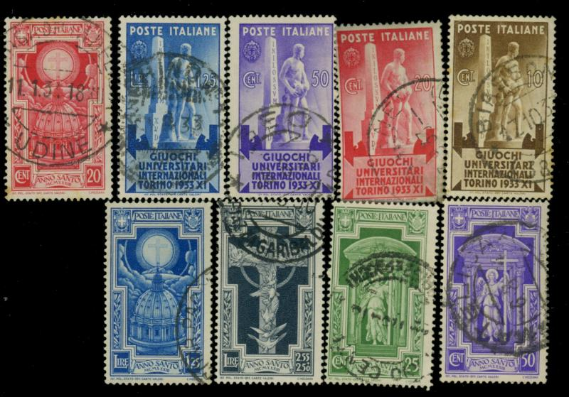 Italy #306-14 Used F-VF Cat$192.50