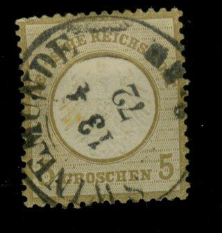 Germany #6 Used F-VF Cat$87.50