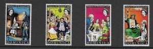 Dominica  304 - 307(SG 212/15) A Christmas Carol Dickens - MNH - VF - 1970