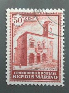 San Marino - 135 VF Used . Scott $ 25.00.