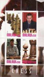 Chess -  Sheet of 4  - 13K-073