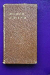 US Scott Specialized 1926 3 Catalog early leather bound pocket Philatelic ad DL