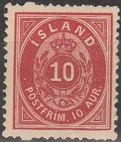 Iceland #11 F-VF Unused CV $300.00 (D3680)
