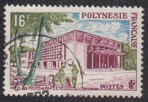 French Polynesia # 195, Post Office at Papeete, Used, 1/2 Cat.