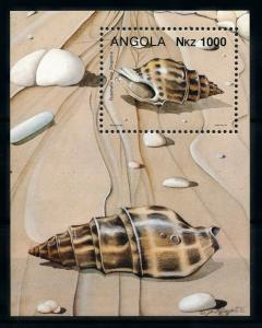 [99784] Angola 1993 Marine Life Sea shells Souvenir Sheet MNH