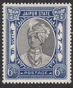 INDIA JAIPUR 1932-46 6a SG65 fresh mint - very lightly hinged..............55280