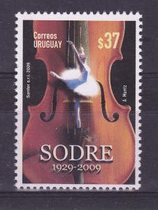 ENTERTAINMENT BALLET MUSIC VIOLIN URUGUAY Sc#2285 MNH