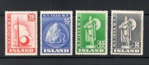 1939 Iceland, Island, Iceland A New York, N° 182-185 MNH