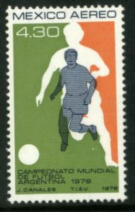 MEXICO C567 $4.30 World Cup Soccer Champ. Argentina. MINT, NH. VF.
