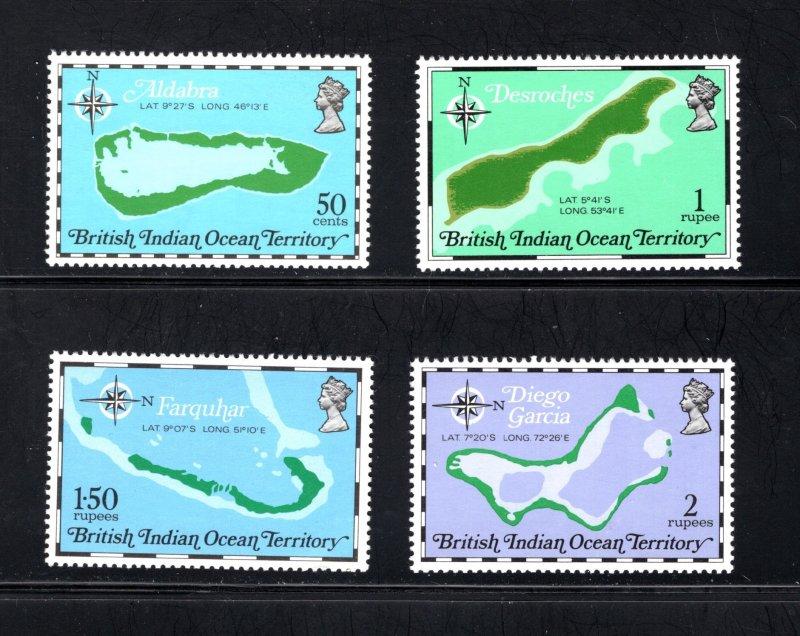British Indian Ocean Territory, Scott 82-85  VF,  MNH, CV $5.00 .... 0870038