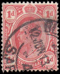 Transvaal Scott 282 Edward VII Used