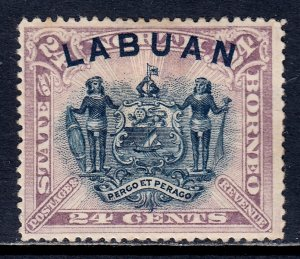 Labuan - Scott #57 - MH - Small thin, old time hinge - SCV $16