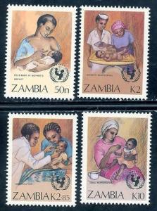 Zambia MNH 440-3 UN Campaign 1988 SCV 4.05