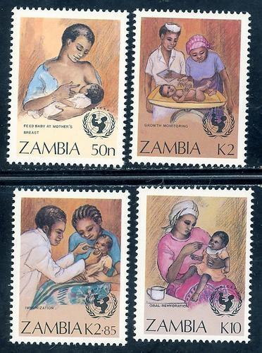 Zambia MNH 440-3 U.N. Health Campaign SCV 4.05