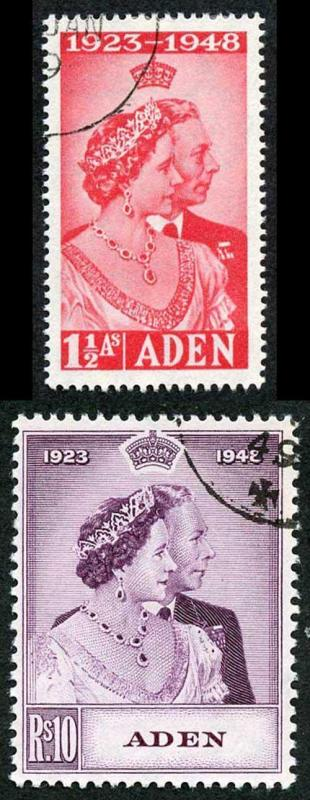 Aden SG30/1  1948 Silver Wedding Set Fine Used