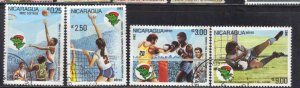 NICARAGUA SC# 1161+C107-09  USED*   1982   SPORTS   SEE SCAN