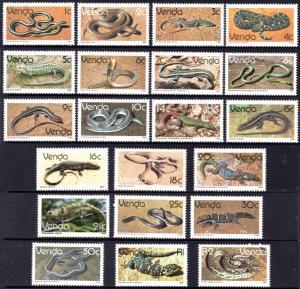 Venda - 1986 Reptiles Set MNH** SG 119-138 & 133b