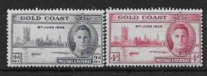 GOLD COAST SG133a/34a 1946 VICTORY SET MTD MINT