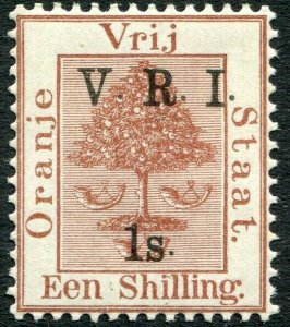 ORANGE FREE STATE-1900 1/- on 1/- Brown Sg 121 LIGHTLY MOUNTED MINT V33117