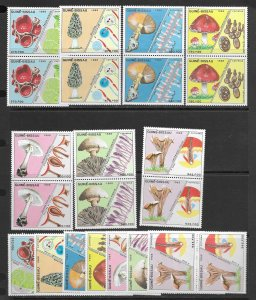 Guinea-Bissau 765-71 Mushrooms MNH cpl. set, vf x 4 sets.  2020 CV $91.60