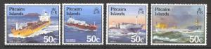 Pitcairn Islands Sc# 258-261 MNH 1985 50c Ships