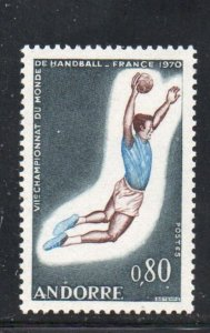 Andorra (Fr) Sc 195 1970 Field Ball Games stamp mint NH