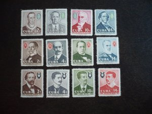 Stamps - Cuba - Scott#595-606 - Mint Hinged Set of 12 Stamps
