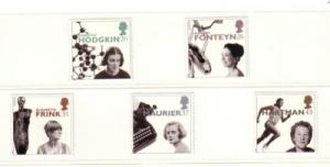 Great Britain Sc 1693-7 1996 Famous Women stamp set mint NH