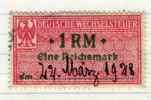 GERMANY; 1920 issue fine used early value, 1RMs early Revenue