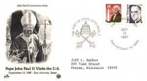 US Pope John Paul II Visits San Antonio,TX 1987 Cover