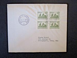 Sweden 1957 UN Batillion In Egypt Cover to USA - Z4918
