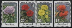SWAZILAND 523-526 (4) Set, Hinged, 1987 Flowers
