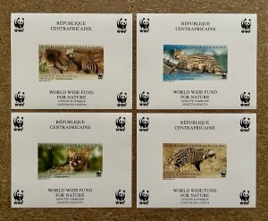 Stamps Deluxes Blocs WWF Savages Animals Civet Central Africa 2007 Imperf.