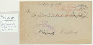 SOUTH WEST AFRICA 1916 PRISONER OF WAR CENSOR COVER, WINDHOEK LOCAL(SEE BELOW)