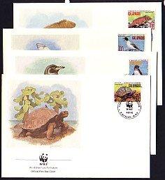 Ecuador, Scott cat. 1281-1282, 84, 86. W.W.F.-Mammals. 4 First day covers. ^