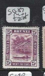 BRUNEI  (PP0905B) 25C RIVER SG 87   MOG