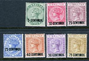 GIBRALTAR-1889  A mounted mint set to 75c on 1/- (top value is UMM) Sg 15-21