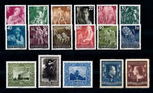 Liechtenstein 1951 Complete Year Set MNH