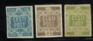 Estonia #2-5   Mint 1918-19 PD