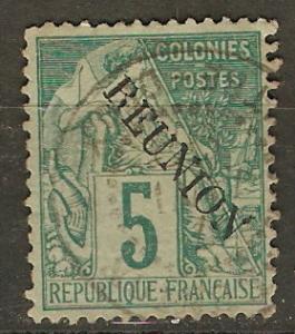 France Reunion 20 Cer 20 Used VF 1891 SCV $9.00