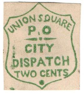 (I.B) US Local Post : Union Square Post Office 2c